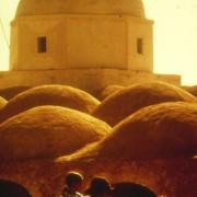 Mosquée construite en pisé.
