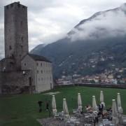 Place du musée à Bellinzona (Italie) photo: Karine Terral.