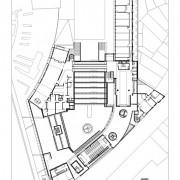 Plan R+1 du lycée Condé - Besançon (25) (Quirot- Vichard - architectes - 1990-1998).