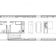 Représentation en plan (en 2 dimensions) de la maison de Grachaux (70) (Quirot-Vichard - architectes - 2000).