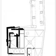 Plan de masse de la salle polyvalente de Beurre (25) (Quirot-Vichard architectes - 2005).