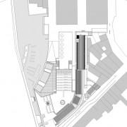 Plan de masse du lycée Condé - Besançon (25) (Quirot-Vichard architectes - 1990-1998).