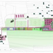 Plan de masse de la Maison Intercommunale de l'Enfance et des Loisirs - Offemont (90) (Philippe Jean - architecte - 2004).