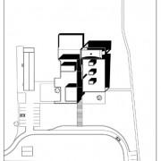 Plan de masse de l'école de Vieilley (25) (Quirot-Vichard - architectes - 2004).