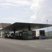 Porte-à-faux du poste de douane à la frontière autrichienne - photo: Maison de l'Architecture de Franche-Comté.