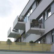 Balcons en porte-à-faux - quartier Vauban - Fribourg (All.) photo: Karine Terral.