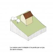 Croquis d'Armelle Briançon - extrait de l'exposition «Maison et paysage» du CAUE du Doubs.