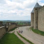 Rempart de la cité de Carcassonne (11) photo: Odile Besème.