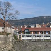 Vestige des remparts des fortifications XVIIIe de Vauban à Besançon (25) photo: Karine Terral.