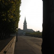 Sainte Anne - élément de repère dans la ville de Montpellier (34) vue depuis le Peyrou (place royale de Montpellier) photo: Odile Besème.