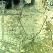 Représentation en plan de la ville de Nîmes au XVIIIe siècle - 1775 - extraite de la collection des plans anciens de Nîmes (1560-1884) du Musée des Arts et d'Histoire de Nîmes (30).