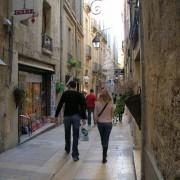 Rue piétonne - rue de l'ancien courrier Montpellier (34) photo: Odile Besème.