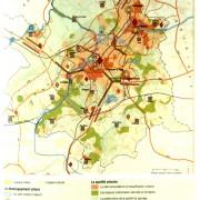 Schéma directeur de la métropole lilloise en 1997 - extrait de la revue Urbanisme.