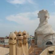 Souches de cheminée de la Casa Mila - Barcelone (Antoni Gaudi - 1906-1911).