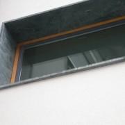 Tableau en granit d'une résidence à Bregenz (Autriche) photo: Maison de l'Architecture de Franche-Comté.