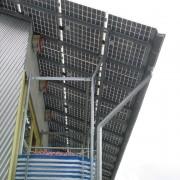 Toit photovoltaïque à un versant - quartier Vauban - Fribourg (All.) 2005.