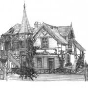 Villa balnéaire XIXe - Trouville-sur-mer (14) dessin: Karine Terral.