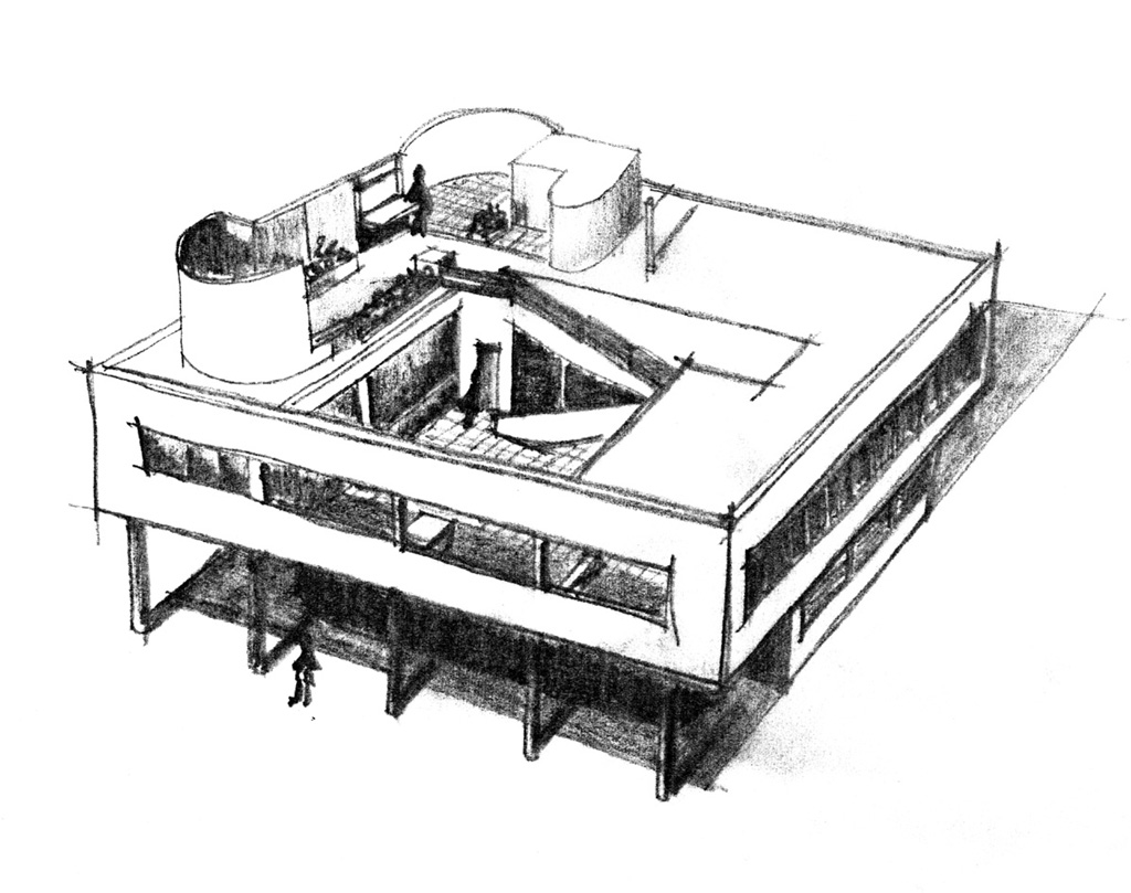 Dessin D Architecture Moderne : Architecture moderne caue