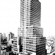 Premier immeuble à ossature métallique.