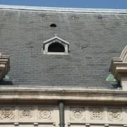 Chatière en zinc du palais de justice de Besançon - photo: Karine Terral.