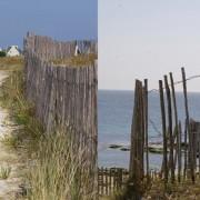 Ganivelles sur la plage de Lesconil (29) - Photographies de STG extraite du site de Lesconil.