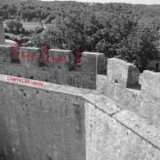 Château de Bonaguil des XIIIe - XVe - XVIe et XVIIIe à Fumel (47500) – photographie du groupe Ressources et pratiques auprès des jeunes.
