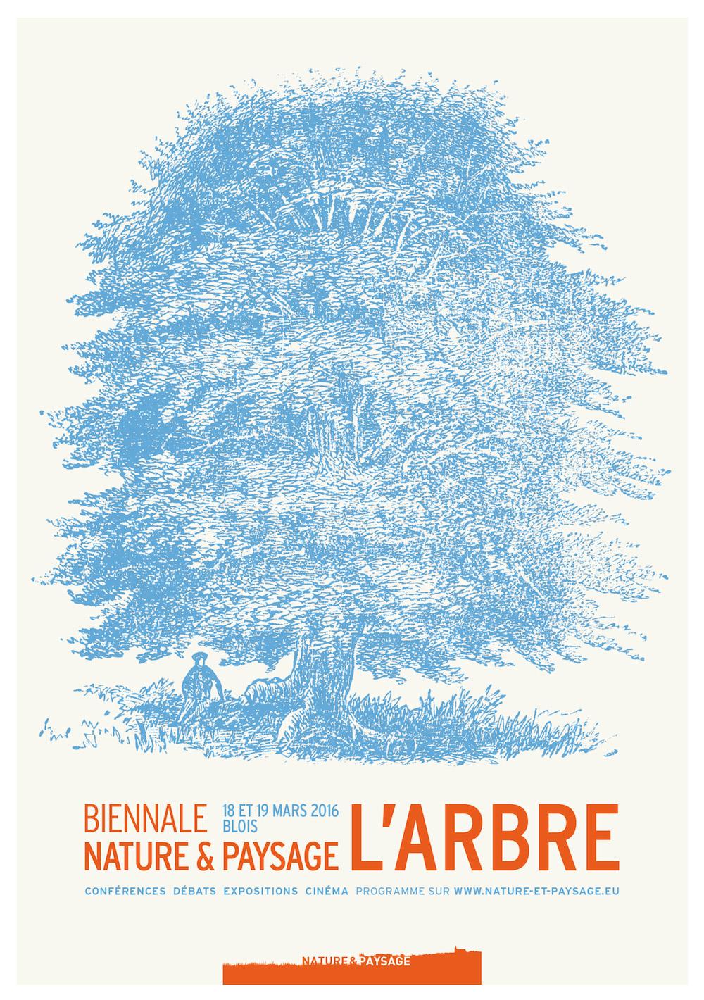affiche de la biennale nature et paysages 2016