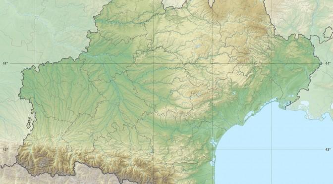 carte physique de la région midi-pyrénées languedoc roussillon