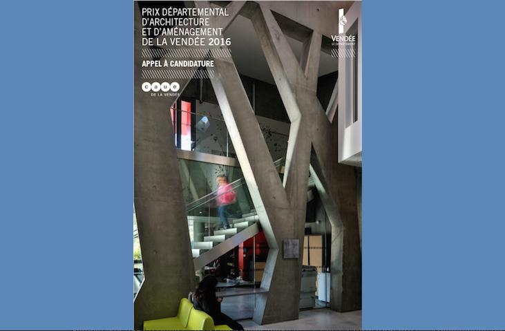 affiche prix départemental architecture du CAUE de la Vendée