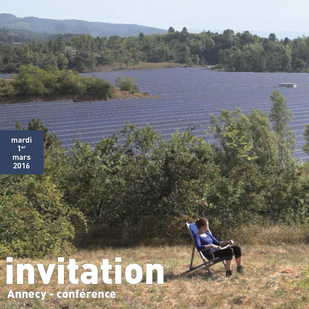 flyer d'invitation pour la conférence paysage