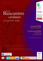 affiche des rencontres catalanes de la pierre sèche