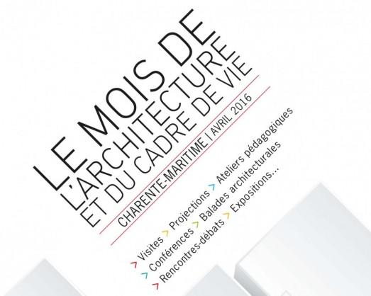 affiche mois de l'architecture Charente Maritime